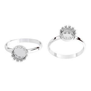 Squillare rotondi per resina, argento 925, ODL-00681 RING (R-15)