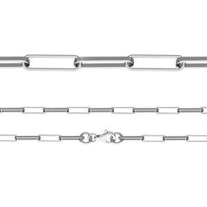 Catena Anker con gli diamanti*argento 925*FIO 100 40 cm