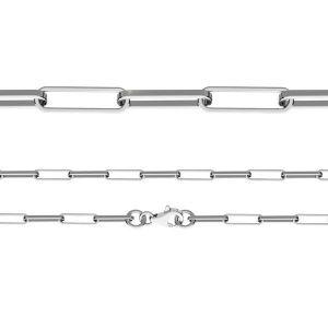 Catena bracciale Anker con gli diamanti*argento 925*FIO 100 19 cm