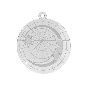 Luna pendente*argento 925*LKM-2625- 0,50 22x23,5 mm