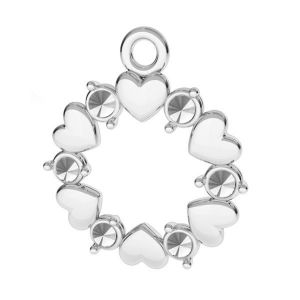 Cuore pendente argento 925, ODL-00812 13,5x15,5 mm