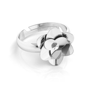Rosa anello*argento 925*U-RING ODL-00041 11 mm