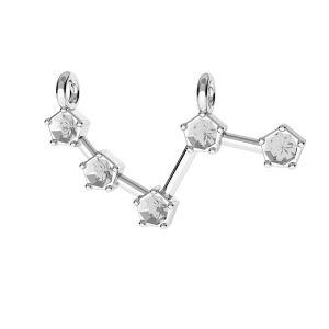 Ariete pendente zodiaco*argento 925*ODL-00636 10x25 mm