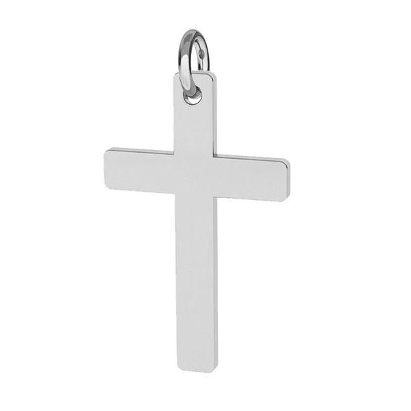 Croce pendente argento 925, J-LKM-2034 - 0,40 12x23 mm