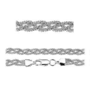 Catena bracciale coreana*argento 925*PLE CORBD 1,8 3P (18 cm)