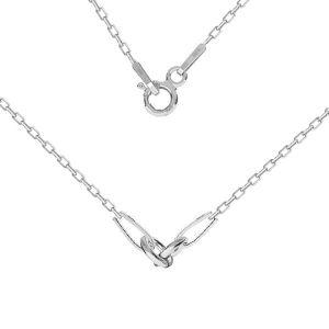 Collana base, argento 925, CHAIN 52 A 030 PL 2,0 42 cm