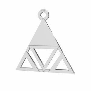 Triangolo pendente argento 925, LKM-2222 - 0,50 18,6x18,7 mm