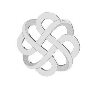 Openwork pendente argento 925, LKM-2212 - 05 15,9x15,9 mm