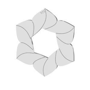 Fiore ciondolo, argento 925, LKM-2788 - 0,50 14,7x17 mm