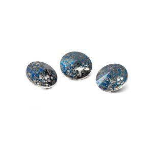 Tondo cristallo 8mm, RIVOLI 8 MM GAVBARI METALIC BLUE PATINA