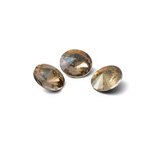 Tondo cristallo 8mm, RIVOLI 8 MM GAVBARI IRIDESCENT GOLD