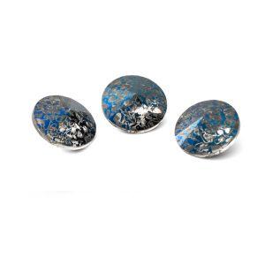Tondo cristallo 10mm, RIVOLI 10 MM GAVBARI METALIC BLUE PATINA