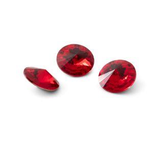 Tondo cristallo 10mm, RIVOLI 10 MM GAVBARI LIGHT RED