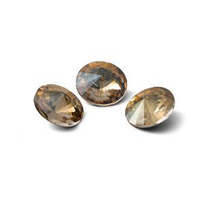 Tondo cristallo 10mm, RIVOLI 10 MM GAVBARI IRIDESCENT GOLD