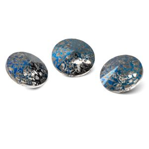Tondo cristallo 12mm, RIVOLI 12 MM GAVBARI METALIC BLUE PATINA