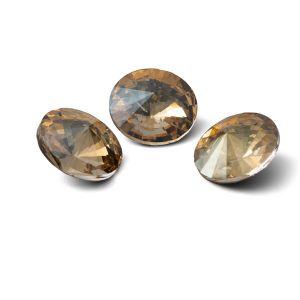Tondo cristallo 12mm, RIVOLI 12 MM GAVBARI IRIDESCENT GOLD