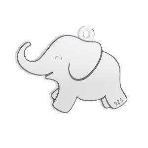 Elefante pendente, argento 925, LKM-3006 - 05 14,5x20 mm