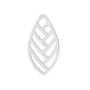Foglia pendente argento, LKM-2104 - 0,50