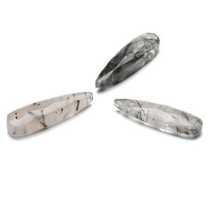 Freccia Quarzo rutilo nero 30 mm, Gavbari pietra semipreziosa