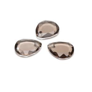 Lacrima pendente, Quarzo Fumè 16 mm, Gavbari pietra semipreziosa