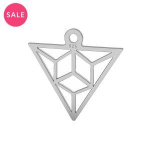Origami triangolo pendente argento, LK-1508 - 0,50