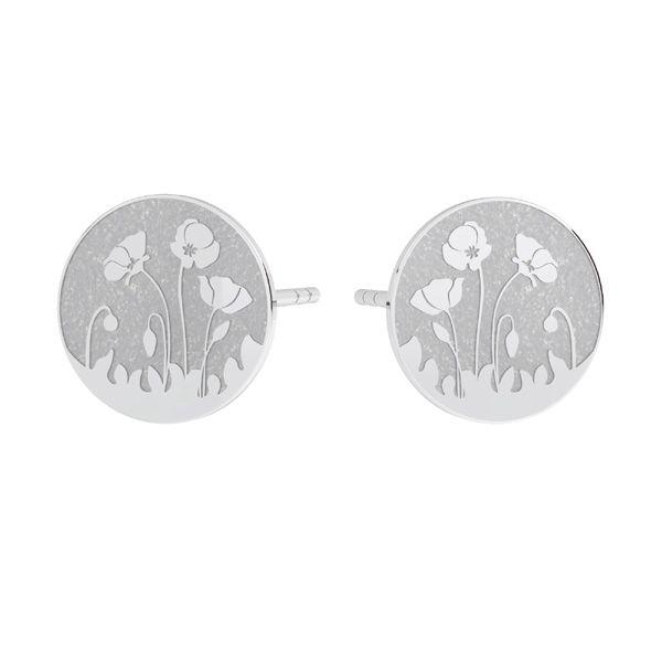 Il giro orecchini, argento 925, KLS LKM-3015 - 0,50 10x10 mm