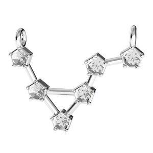 Acquario pendente zodiaco*argento 925*ODL-00637 15x19,5 mm