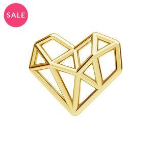 Origami cuore pendente argento, ODL-00299