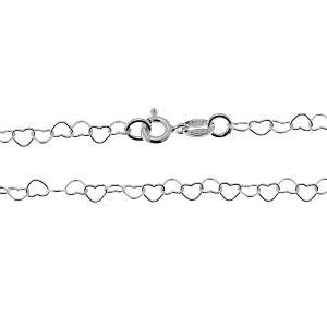 Catena di cuorir*argento 925*, SRC 045 45 cm