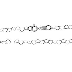 Catena di cuorir*argento 925*SRC 045 40 cm